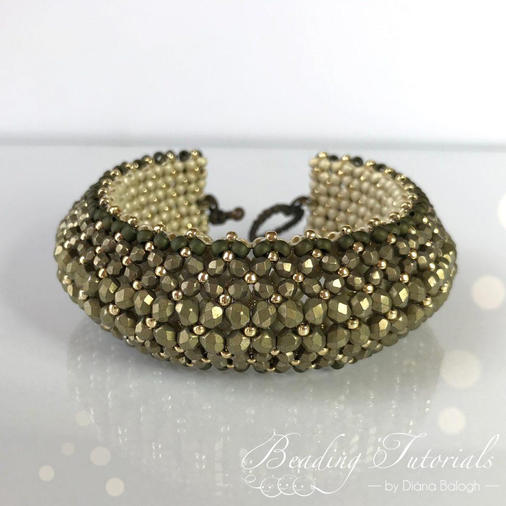 Puffy Flat Chenille Stitch Bracelet beading tutorial