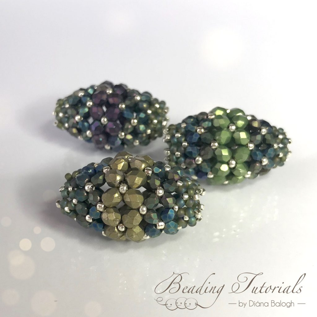 Ramya flat chenille stitch beaded bead tutorial