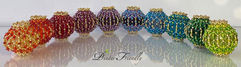 Lantern Beaded Beads Flat Chenille Stitch beading tutorial by Diána Balogh