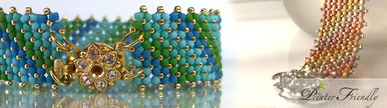 Nadia Flat Chenille Stitch Bracelet beading tutorial by Diána Balogh