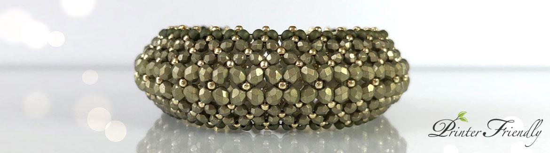 Puffy Bracelet beading tutorial Flat Chenille Stitch Bracelet by Diána Balogh